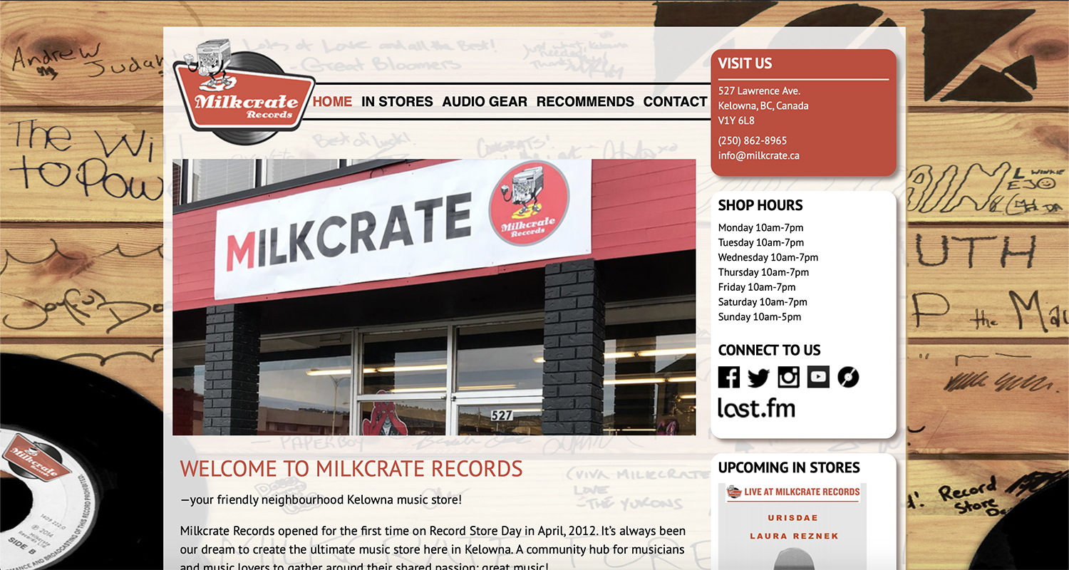 Milkcrate Records Website