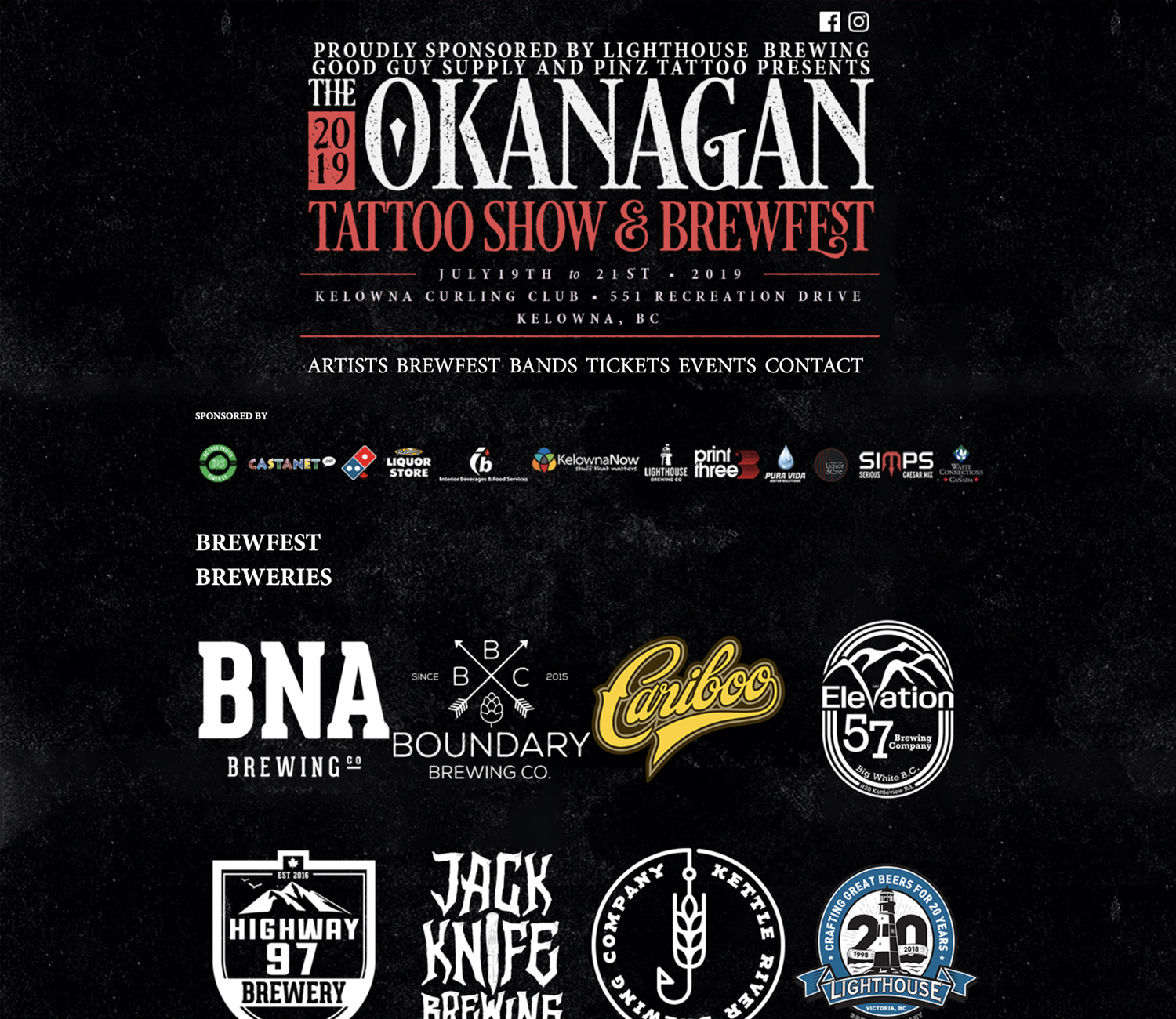 Okanagan Tattoo Show & Brew Fest 2019 Website