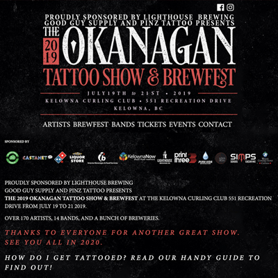 Okanagan Tattoo Show & Brew Fest 2019